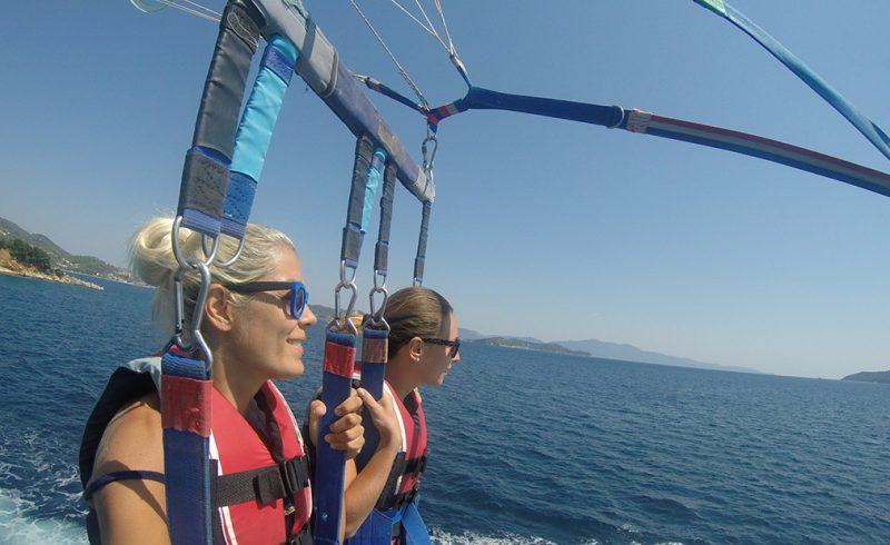 skiathos parasailing,skiathos fun,parasailing